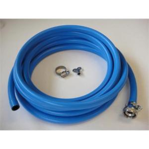 03-1006 Vulslangset PVC blauw 5,0m +2 slangw. gemont. Ponnoplastic