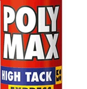 6311639 Montagelijm Poly Max High Tack Express zwart koker a 435g Bison
