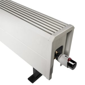 Tempo radiatorconvector staand H050 L180 T15 3121W RAL9010 Jaga